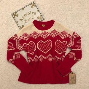 True Craft Heart Pattern Sweater